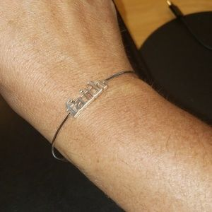 Silver Plated Faith Braclet